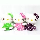Thú Nhồi Bông Ghi Âm Hello Kitty Áo Đầm Bi GAC93