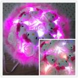 Hoa Gấu Bông 7 Hello Kitty Ôm Bông Đèn Led