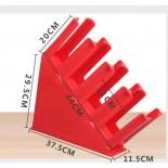Kệ Đựng Ly Nhựa Bằng Nhựa 4 Ngăn (Đỏ)