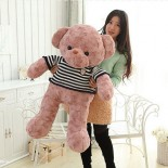 Thú Nhồi Bông Gấu Teddy Áo Len Hường Kem 100cm