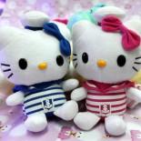 Thú Nhồi Bông Ghi Ầm Hello Kitty Áo Sọc GAC65