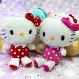 Thú Nhồi Bông Ghi Ầm Hello Kitty Sọc Trái Tim GAC69