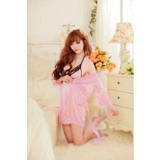 Váy Ngủ Gợi Cảm Bộ 2 Cái (Hồng)
