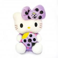 Thú Nhồi Bông Hello Kitty Ôm Bọ 32cm (Tím)